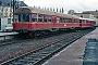 """MaK 504 - SWEG """"VT 85"""" 10.04.1982 Bruchsal,Bahnhof [D] Axel Johanßen"""